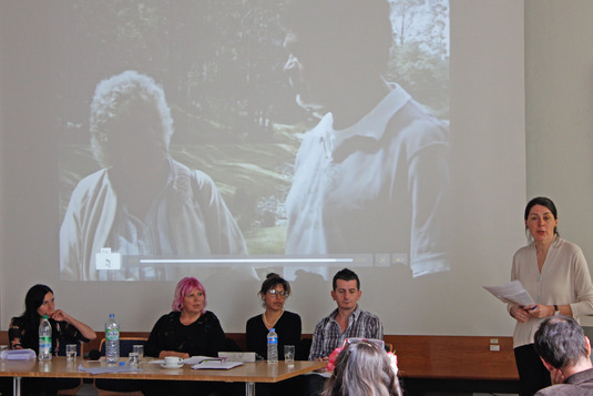 Panel-group with Eveline Dürr